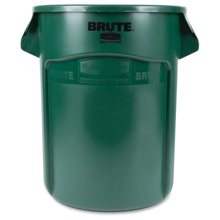 Rubbermaid Commercial Brute Round Containers, 44 gallon, Dark Green