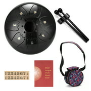 6 inch 7-Tone Steel Tongue Drum Mini Hand Pan Drums with Drumsticks Percussion Musical Instruments