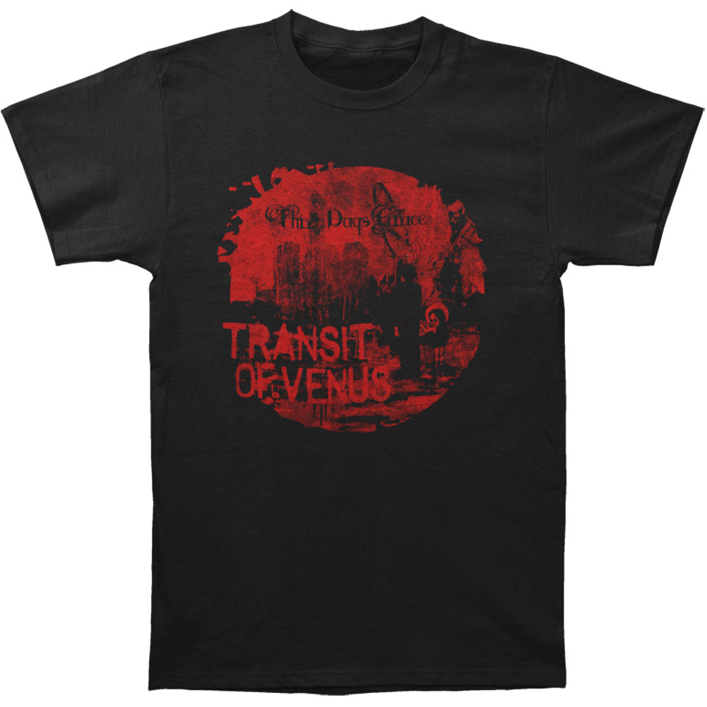 Three Days Grace Men's  Transit To Venus 2013 Tour T-shirt Black