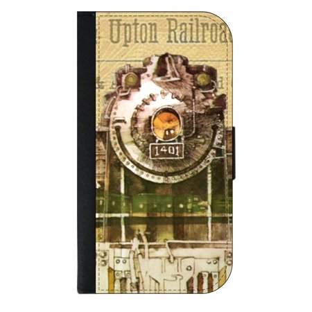 Vintage Style Train - Phone Case Compatible with the Samsung Galaxy s9+ / s9 Plus - Wallet Style with Card Slots