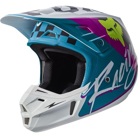 Fox V2 Rohr Helmet Teal (Blue, Large) (Fox V2 Race)