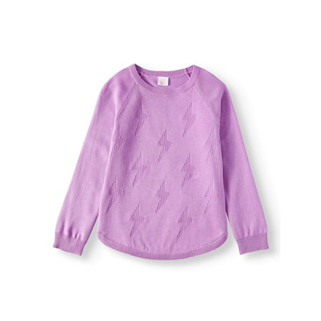 Wonder Nation Pullover Lightweight Sweater Knit Top (Little Girls, Big Girls & Plus) (Pullover Girls Sweater)