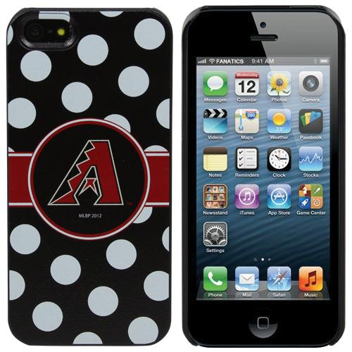Arizona Diamondbacks iPhone 5 Polka Dot Snap-On Case - Black/White - No Size