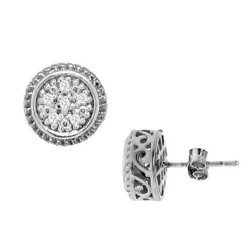 Moise Diamond Round Stud Earrings