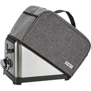 Toaster Dust Cover with Pockets Compatible with Cuisinart 4 Slice Toaster, Can Hold Jam Spreader Knife & Toaster Tongs, Dust and Fingerprint Protection, Grey