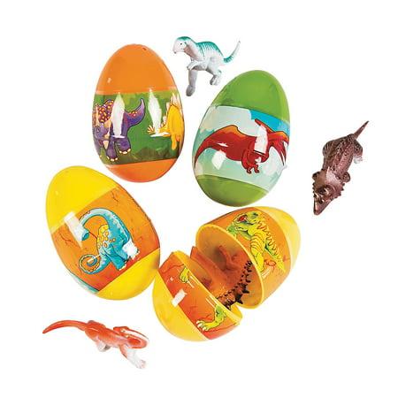 IN-13680556 Toy-Filled Dinosaur Plastic Easter Eggs Per (Dinosaur Eraser)