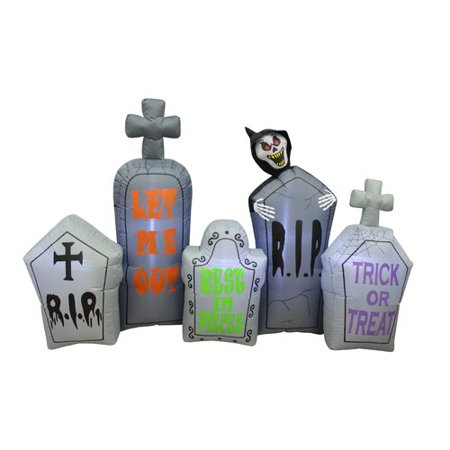 The Holiday Aisle Halloween Tombstone Pathway Inflatable - Tombstone Quotes Halloween