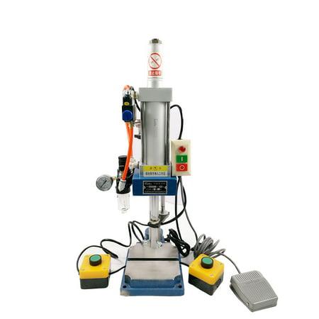 Pneumatic Press (TechTongda 2 Buttons Pneumatic Press Machine Small 100 to 50 type Punch Machine Press 200KG(#230545))