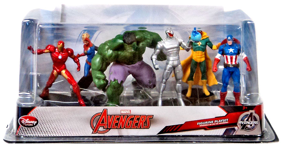 Marvel Avengers 6-Piece PVC Figurine Playset by