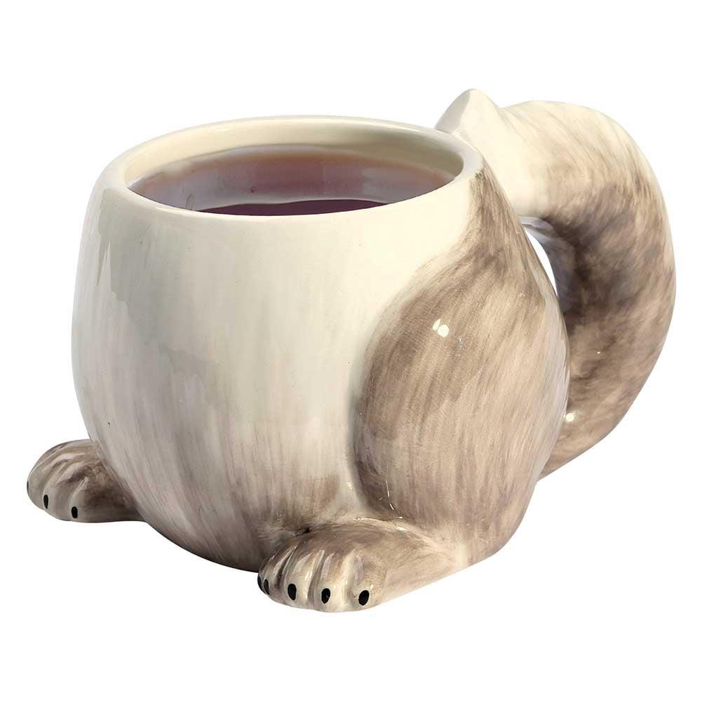 Funny Squirrel Tail Mug - Porcelain 14 Oz.