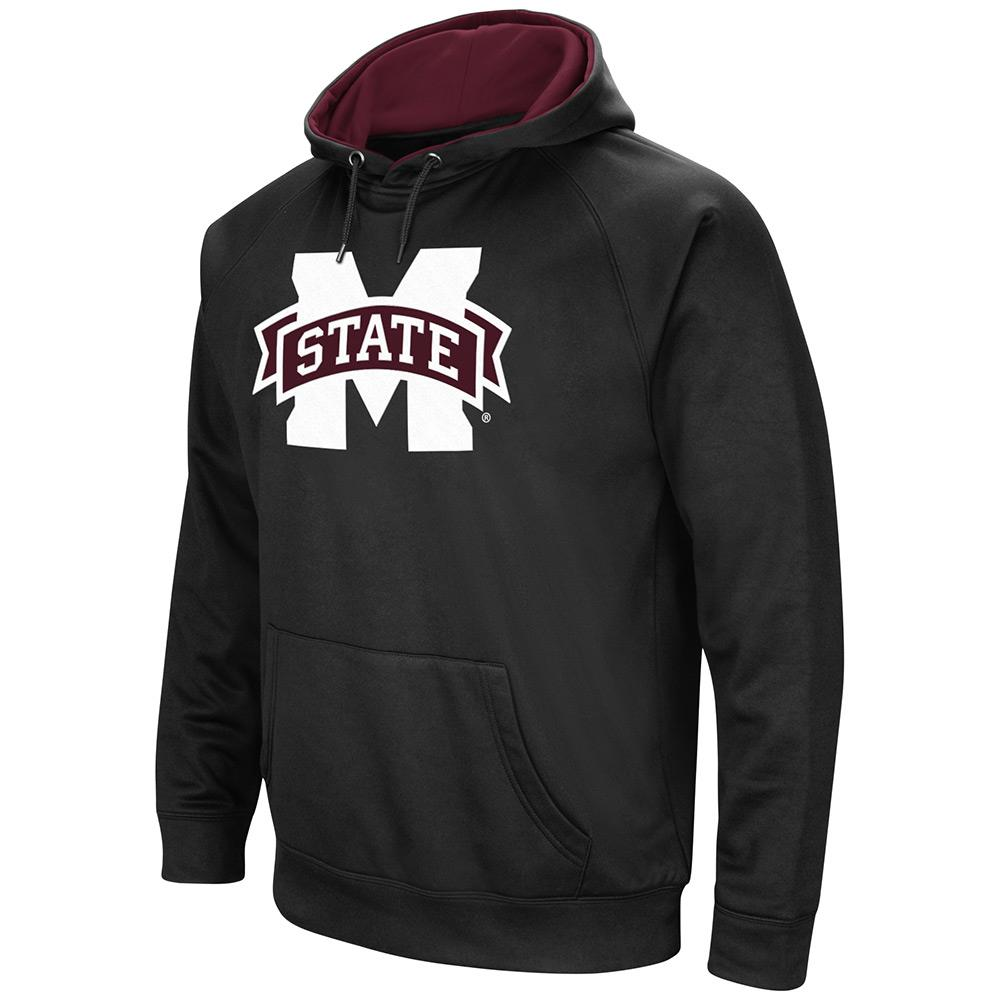 Mens NCAA Mississippi State Bulldogs Black Pull-over Hoodie by Colosseum