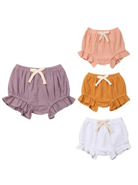 Girls Shorts Toddler Infant Baby Boy Girl Solid Color Pants Bottoms PP Bloomers Casual Panties Summer Beach High Waist Shorts