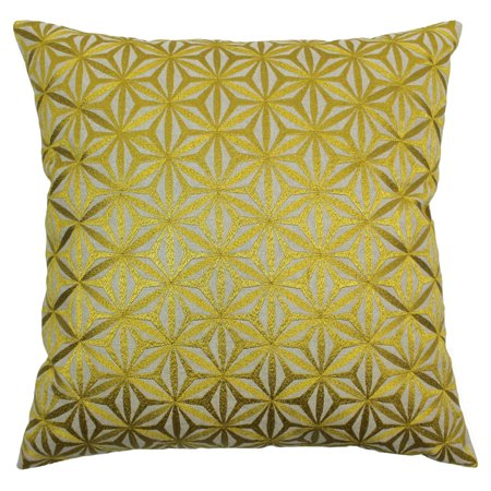 Blazing Needles 20 x 20 in. Indian Diamond Mosaic Hand Embroidered Throw Pillow
