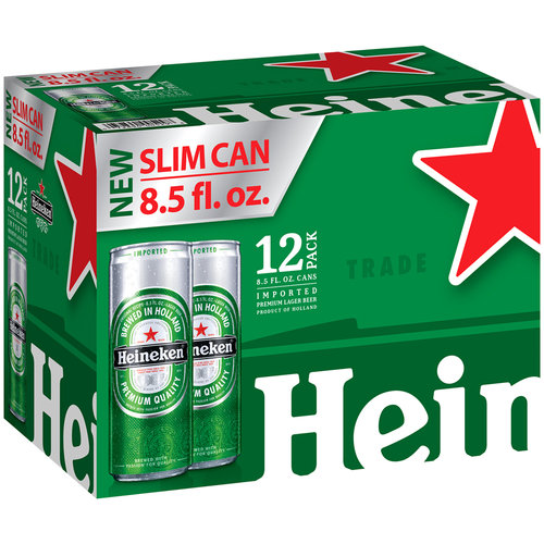 Heineken Lager Beer, 8.5 fl oz, 12 pack