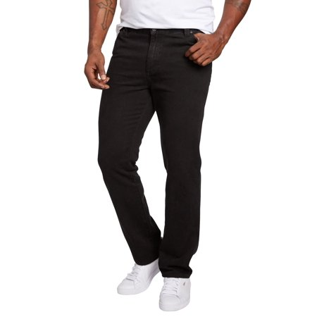 Liberty Blues Men's Big & Tall Straight Fit Side Elastic 5-pocket