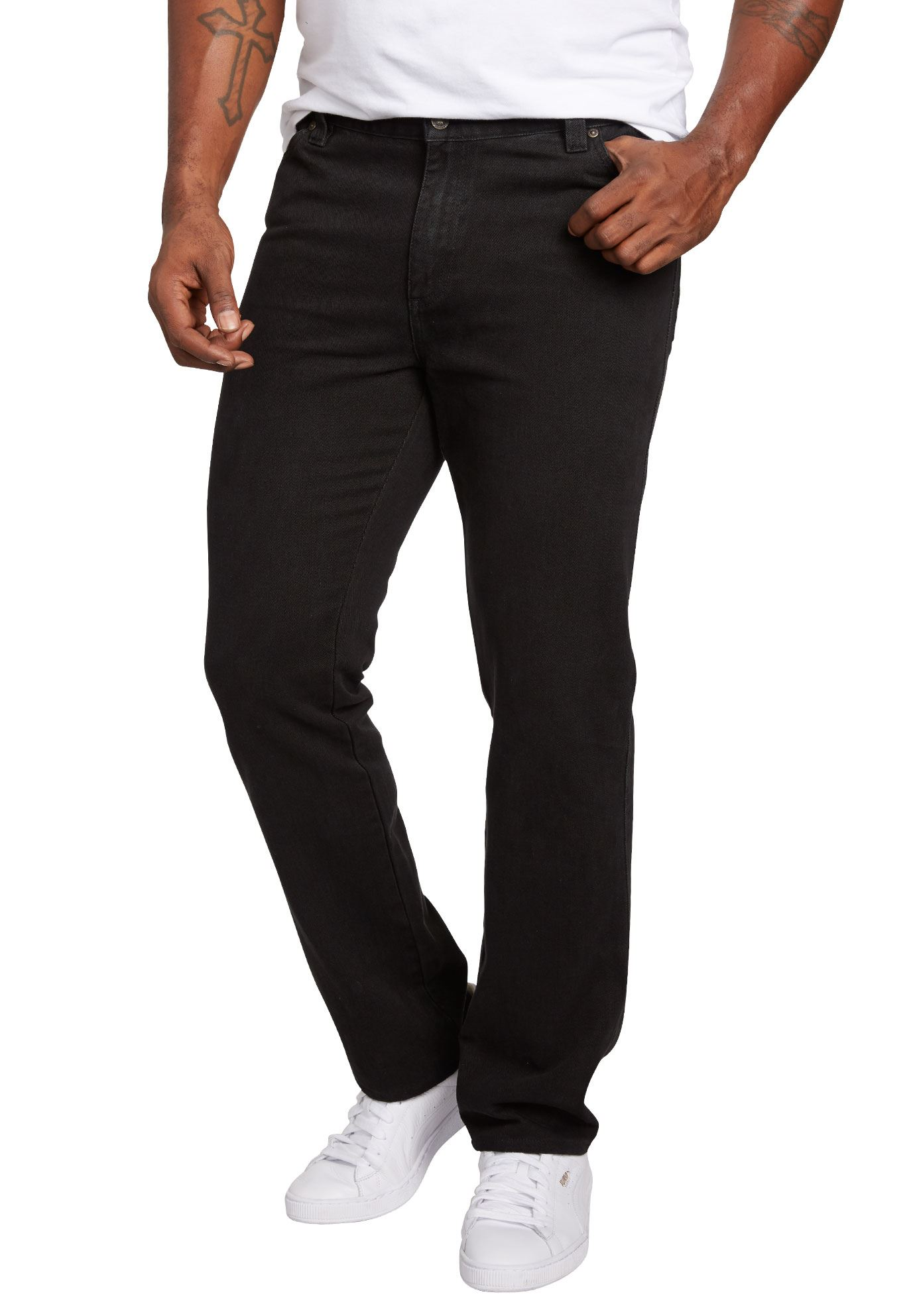 Liberty Blues Men's Big & Tall Straight Fit Side Elastic 5-pocket Jeans