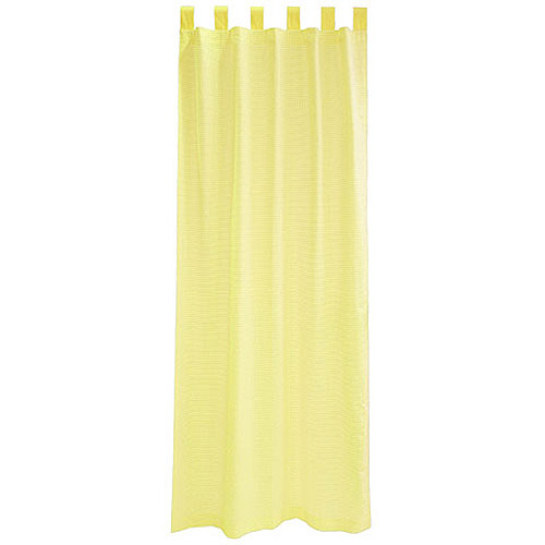 Seed Sprout Basics Tab Top Curtains (2 Panels), Yellow Gingham