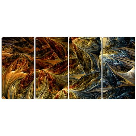 Design Art Metal 'Molten Gold Abstract' 4 Piece Graphic Art Set ()
