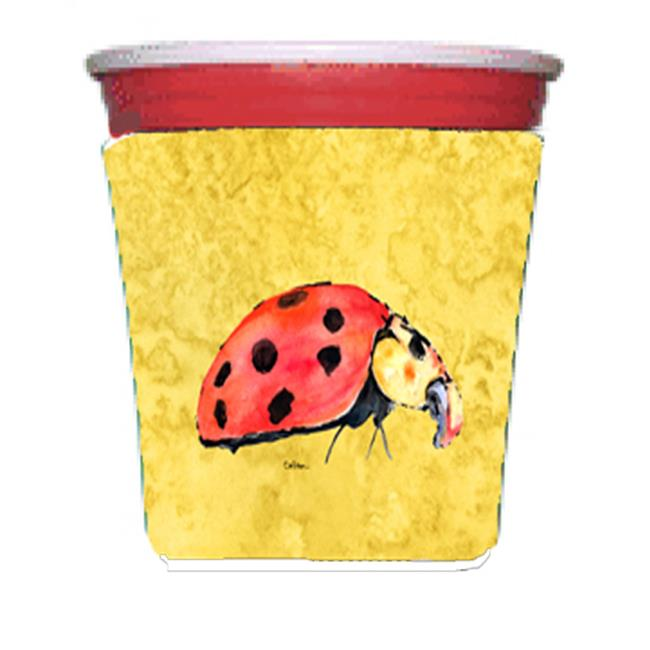 Carolines Treasures 8867RSC Lady Bug On Yellow Red Solo Cup bottle sleeve Hugger - 16 To 22 oz. - image 1 of 1