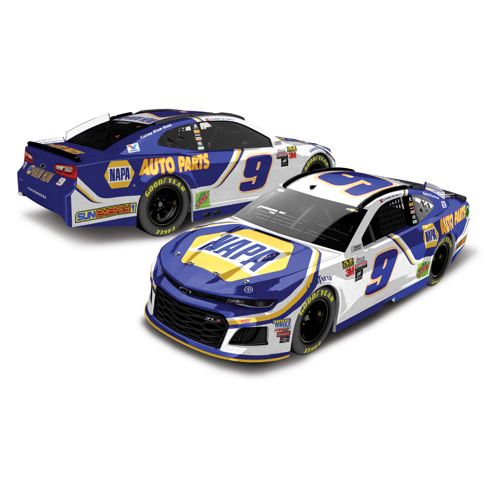 Chase Elliott Action Racing 2018 #9 NAPA 1:24 Monster Energy NASCAR Cup Series Galaxy Die-Cast Chevrolet Camaro ZL1 - No Size