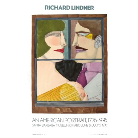 Richard Lindner American Portraits 1976 Mourlot Lithograph
