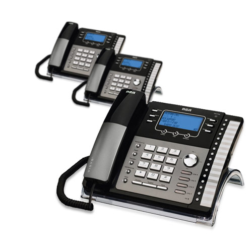 RCA ViSYS 25425RE1 (3-Pack) 4-Line EXP Speaker Phone w  Digital Answering System by GE/RCA