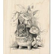 "Inkadinkado 7330911 Mounted Rubber Stamp 4""x3.5""-bunny Retreat"