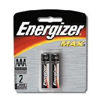 Energizer Alkaline Batteries E92Bp, Size: Aaa - 2 Each Per Pack, 12 Pack