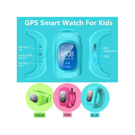Anti-Lost Smart Watch Q50 GPS Accurate Positioning Locator Tracker SOS Emergency Security Alarm Monitor Wrist Waterproof High Definition Voice Call For Kids Baby Children