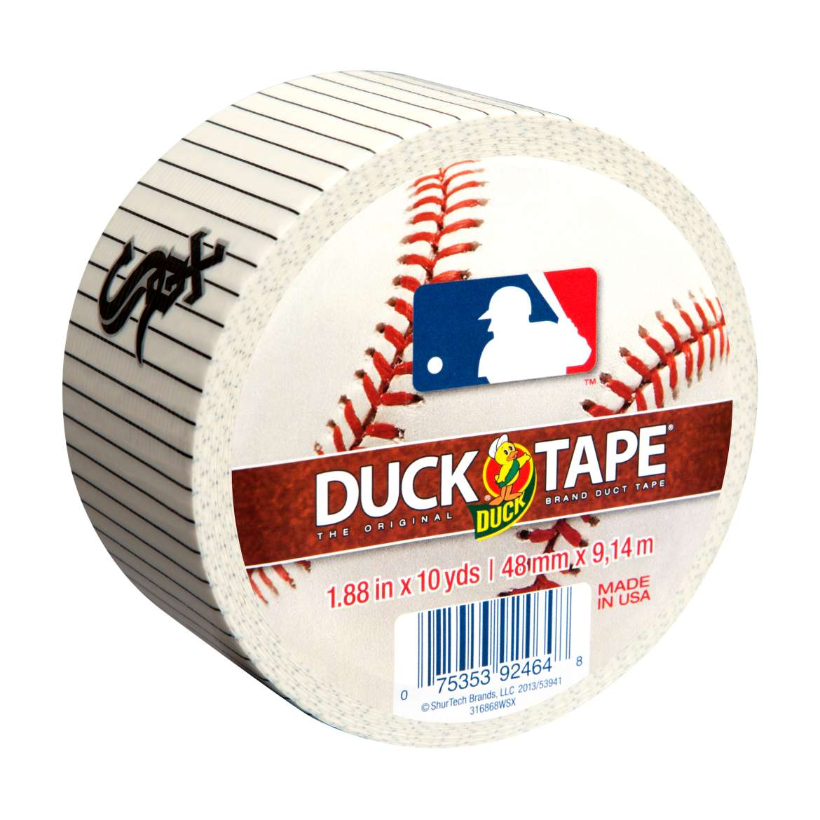 "Duck Brand MLB Duck Tape, 1.88"" x 10 yard, Chicago White Sox"