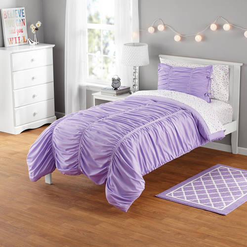 Your Zone Ruched Mini Comforter Set