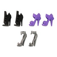 Monster High Dolls Monster Maker Playset BLT07 - Replacement Shoes - Includes 3 Pairs- Purple, Silver and Black