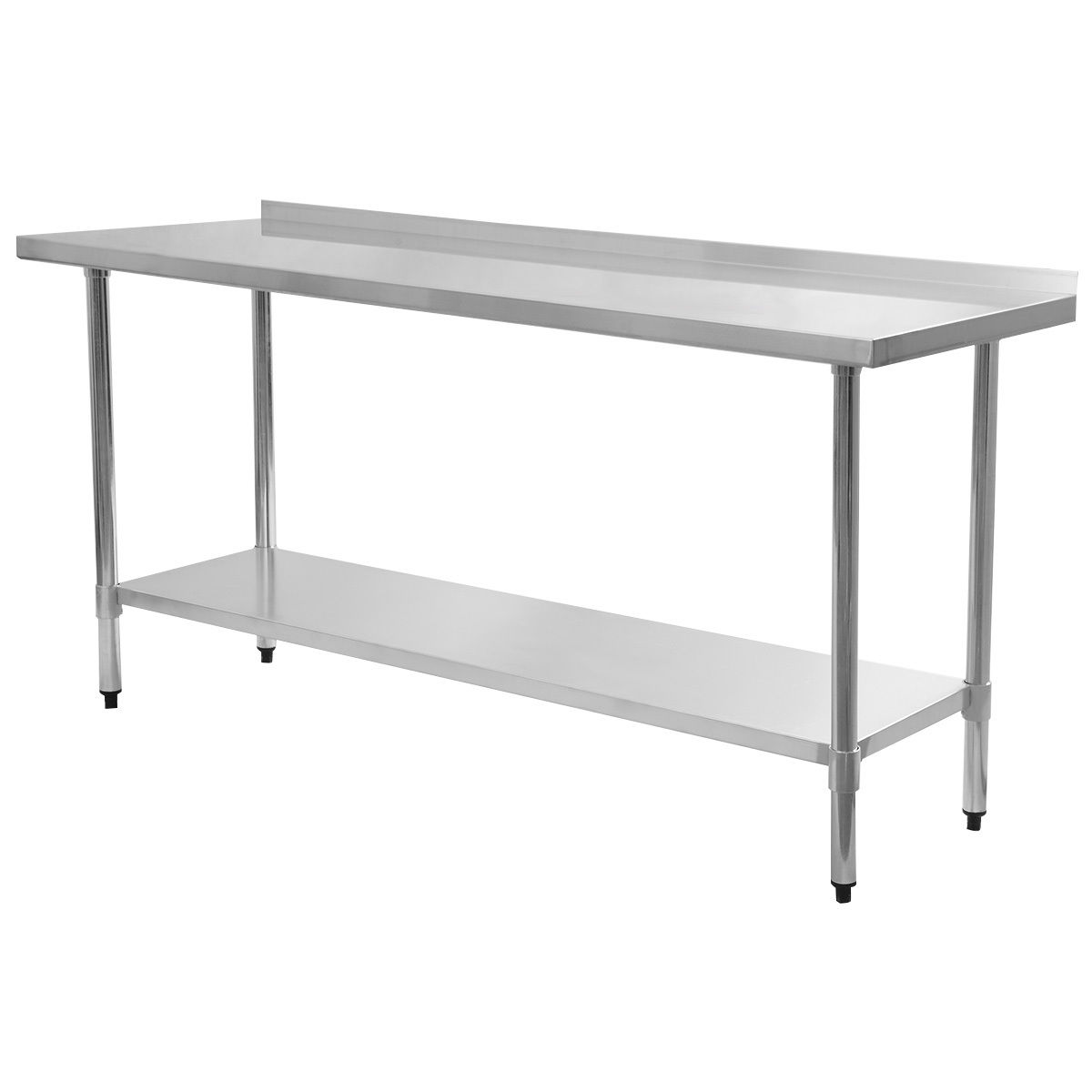 Costway 24'' x 72'' Stainless Steel Work Prep Table with ...