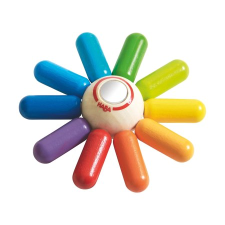HABA Rainbow Sun Wooden Clutching Toy Rattle & - Haba Wooden Toys