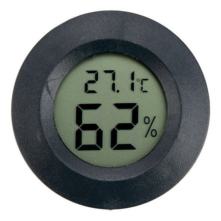 Thermo Hygrometer Sensor (Mini LCD Digital Round Thermometer Hygrometer Handheld Fridge Temperature Humidity Meter Freezer Tester Detector -50~+110)