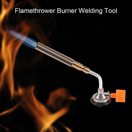 Flamethrower Burner,HURRISE Flamethrower Burner Butane Gas Blow Torch Hand Ignition Camping Welding BBQ ()