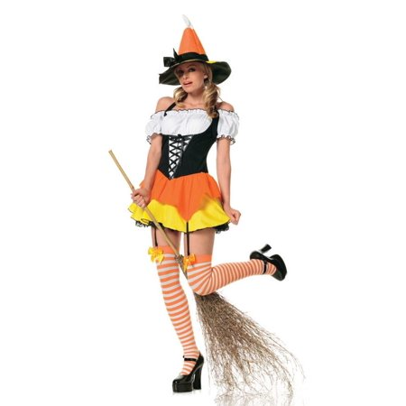Sweet Sexy Witch (Morris Costumes Kandy Korn Sexy Witch 3Pc Xsm )