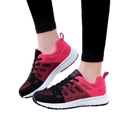 Women's Mesh Breathable Sneakers Walking Running Sports Gym