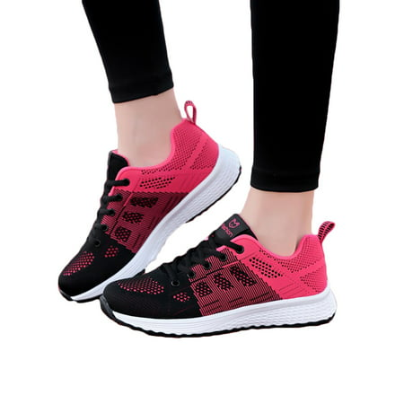 running sneakers : Women's Mesh Breathable Sneakers Walking Running Sports Gym Shoes