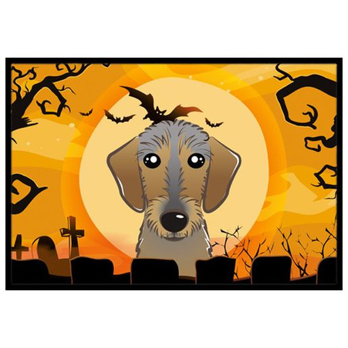 Caroline's Treasures Halloween Wirehaired Dachshund Mat