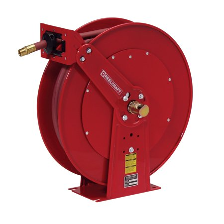 Reelcraft Dual Pedestal Oil 3 4 In  Hose Reel   50 Ft