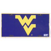 University of West Virginia embossed metal auto tag
