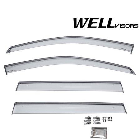 WellVisors Window Visors 2017-2019 Jeep Compass Wind Deflectors Rain Snow (Jeep Compass Sunroof)