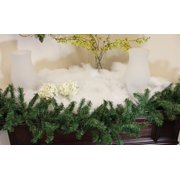 White Iridescent Artificial Powder Snow Christmas Blanket - Covers 6 Square Ft