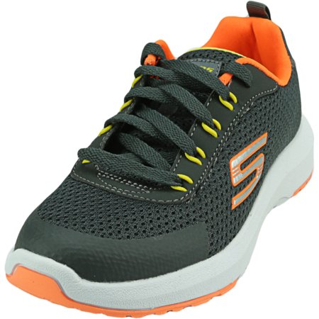 Skechers Boy's Dynamic Tread-Nitrode Charcoal / Orange Ankle-High Mesh Walking - 2.5M - image 1 of 1