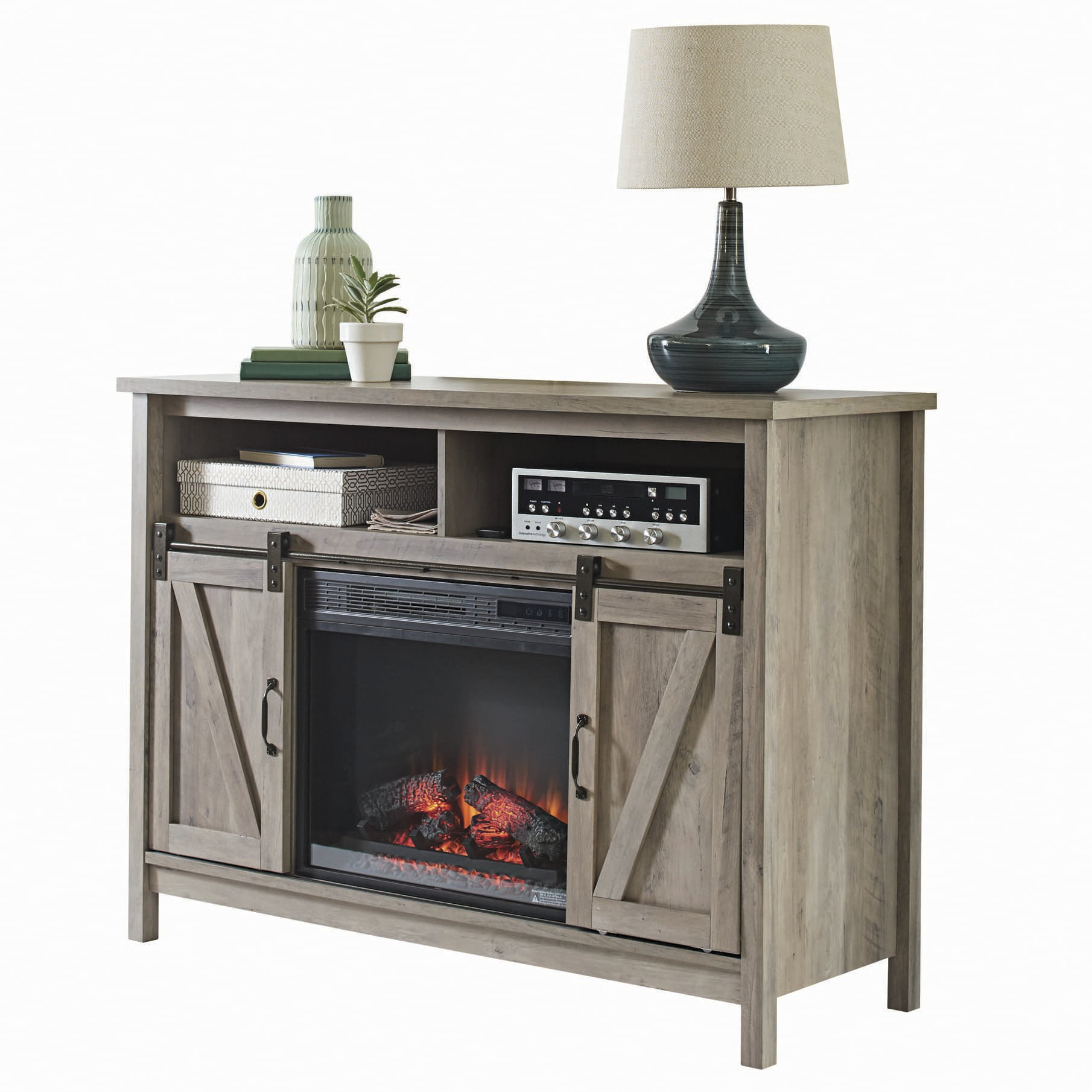 13 Better Homes & Gardens Modern Farmhouse Fireplace Credenza for TVs up to  10