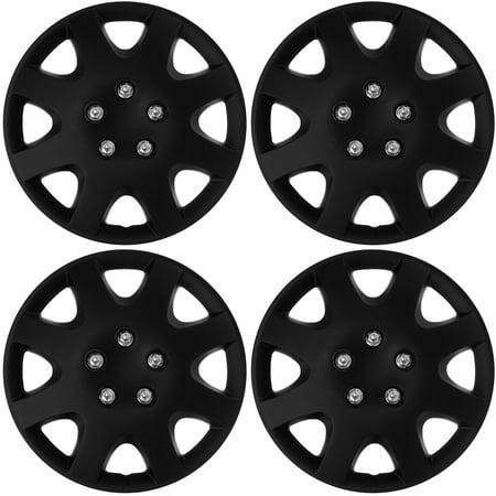 Cover Trend  Set Of 4   Aftermarket Honda Civic Replica  15  Black Matte Hub Caps Wheel Covers