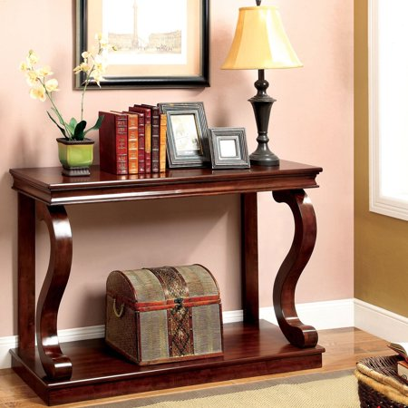 American Home Classic Arts (Furniture of America  Prozy Cherry Classic Console Table )