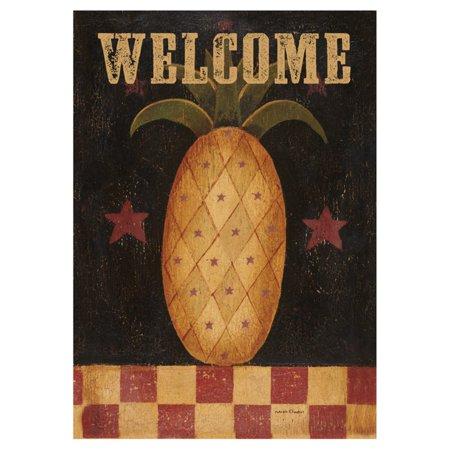 Pineapple Welcome House - Toland Home Garden Americana Pineapple Flag
