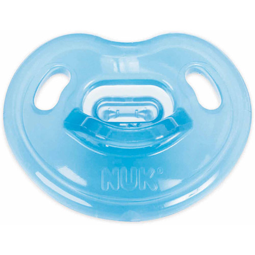 NUK Newborn 100% Silicone Pacifier, Size 0-3 Months, 4-Pack, Boy Colors